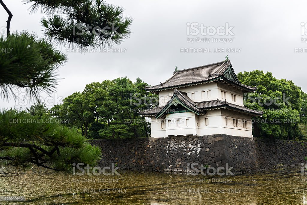 Imperial Palace and Nijubashi Bridge, Tokyo stock photo