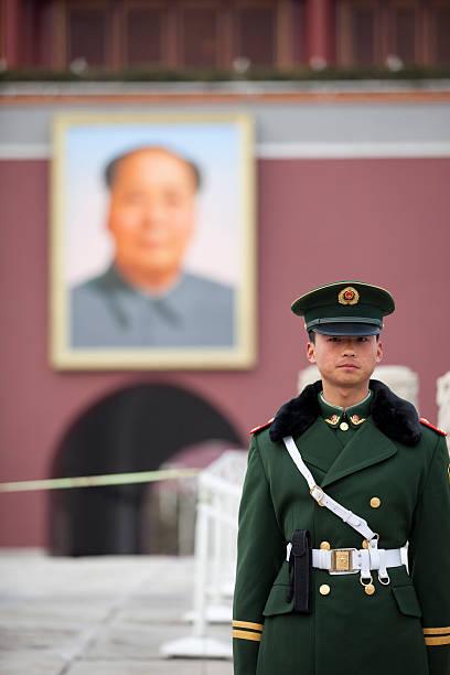 imperial palace guard, beijing china - chinese military bildbanksfoton och bilder