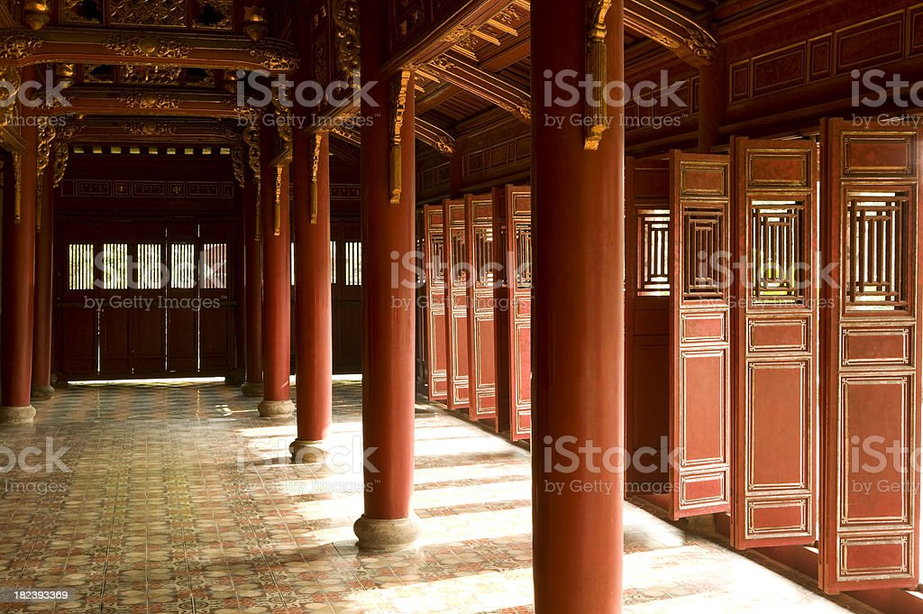 imperial palace hue vietnam unesco world heritage site stock photo