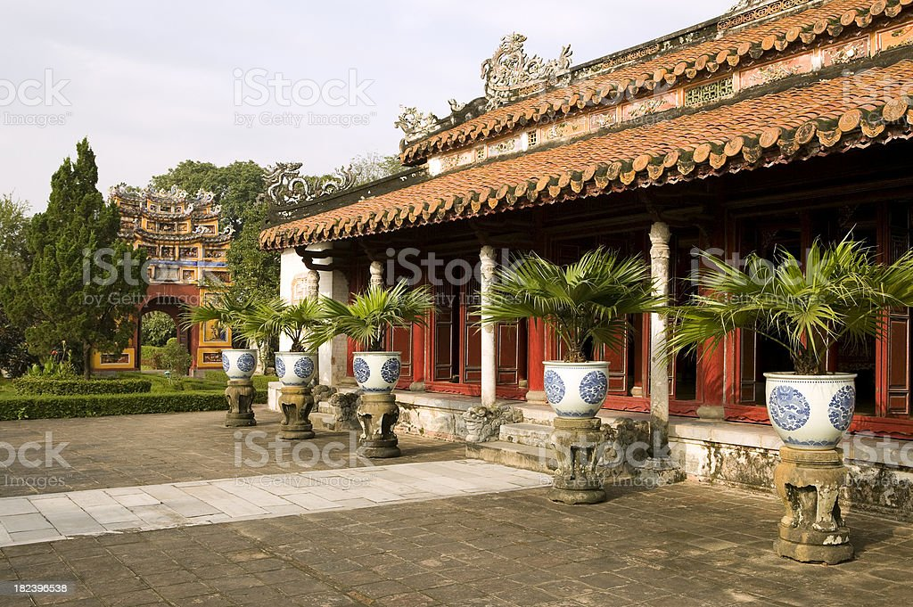 imperial palace hue vietnam unesco world heritage site royalty-free stock photo