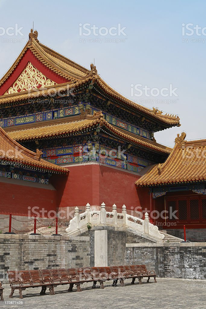 Imperial Palace in Forbidden City royalty-free stock photo