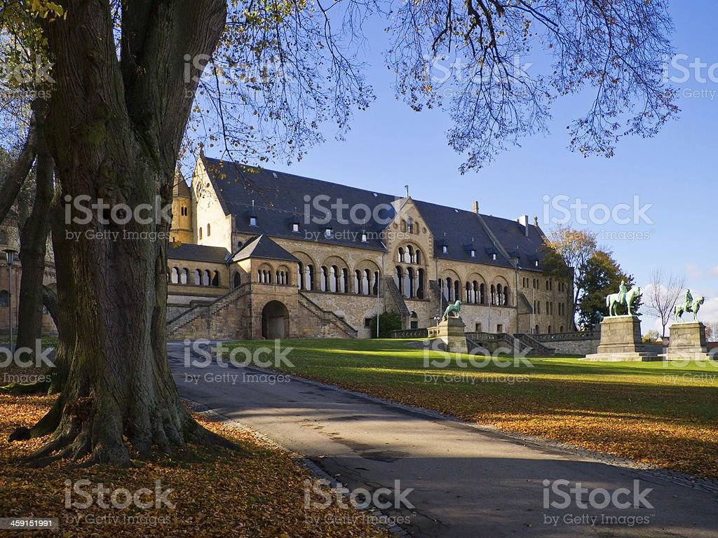 imperial palace in goslar stock photo