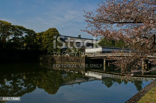 Tokyo, Japan - April 16, 2015 : Outside of Imperial Palace in Tokyo, Japan during the early morning hours.
