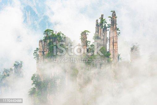 Imperial Pen Peak of Zhangjiajie. Located in Wulingyuan Scenic and Historic Interest Area, Zhangjiajie, hunan, China.