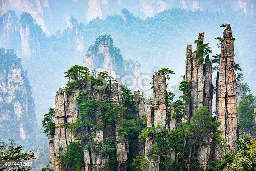 istock Imperial Pen Peak of Zhangjiajie 497441362