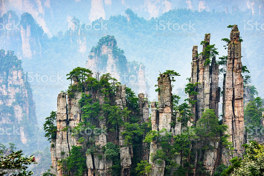 Imperial Pen Peak of Zhangjiajie stock photo