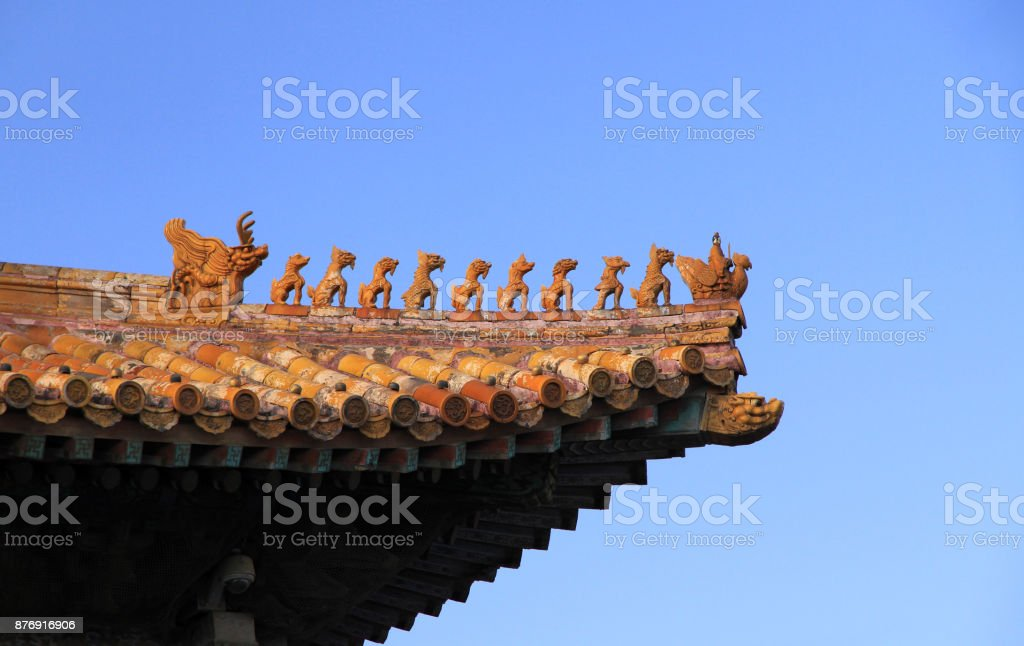 Imperial roof decoration stock photo