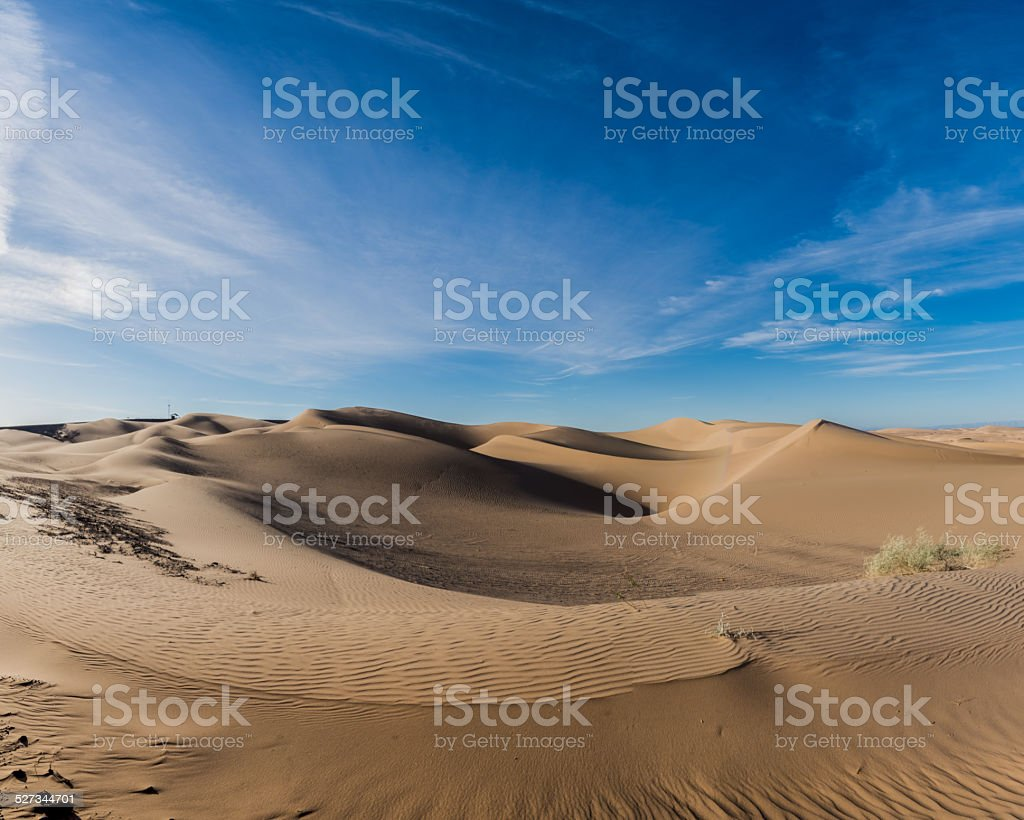 Imperial Sand Dunes at Sunset stock photo