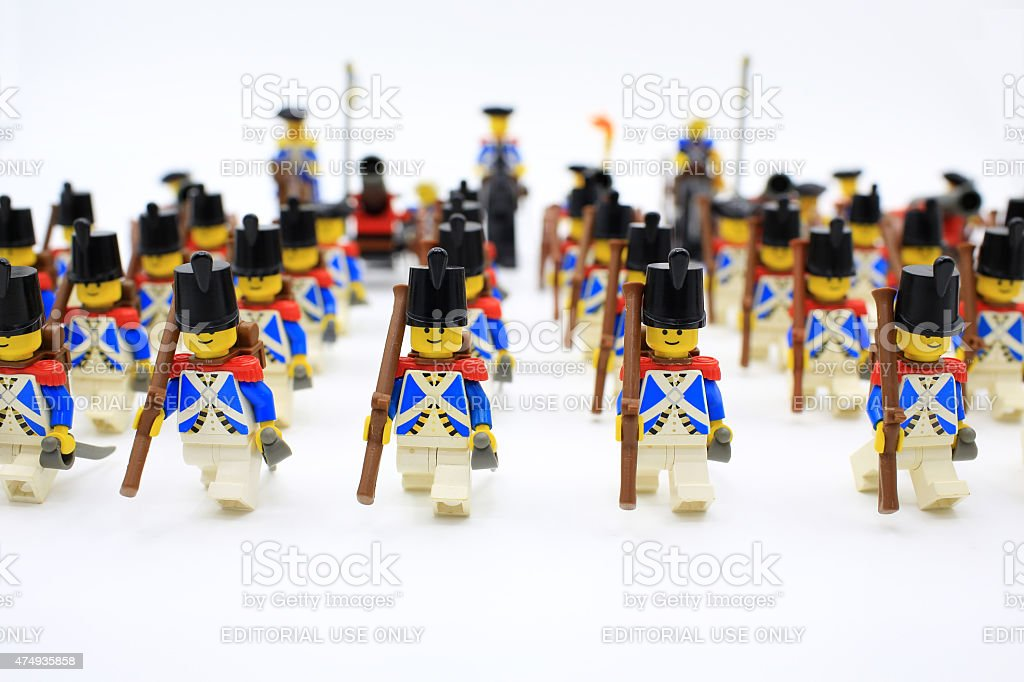 imperial soldiers march stock photo