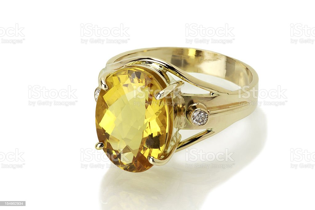 Imperial Topaz or Citrine Ring royalty-free stock photo