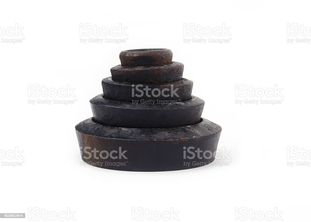 imperial weights stock photo