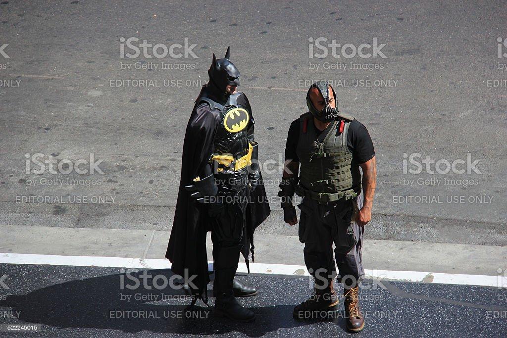 Impersonators on Hollywood Boulevard stock photo