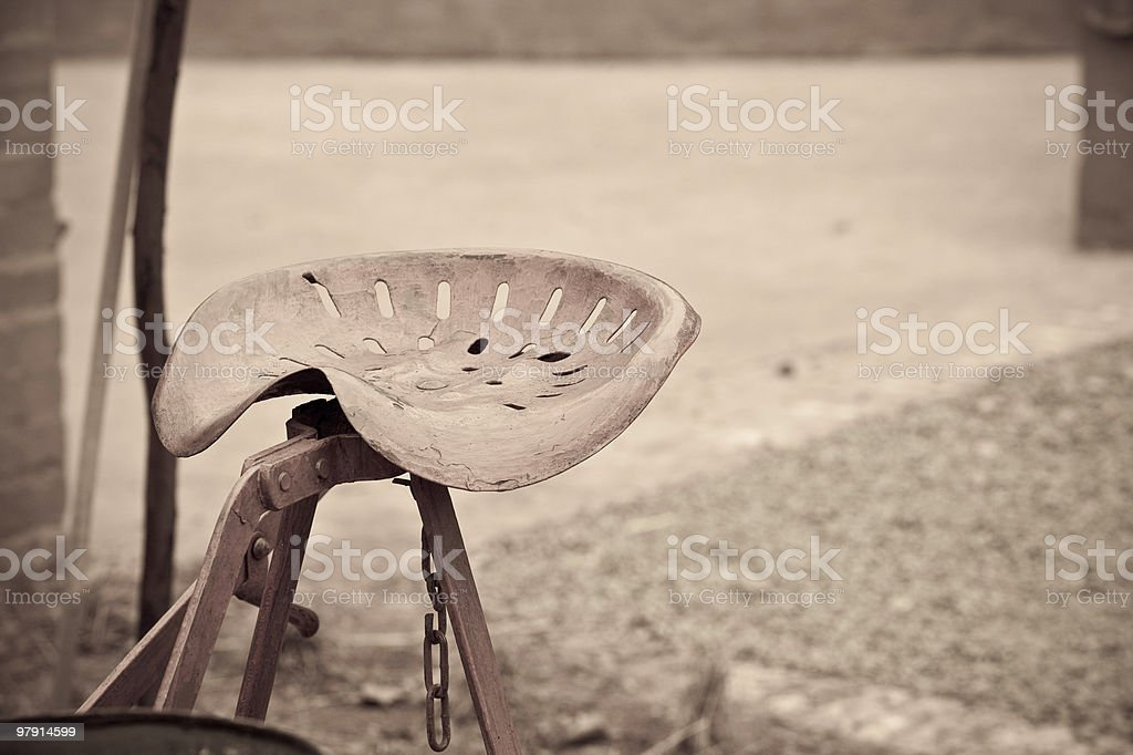 Implement seat royalty-free stock photo