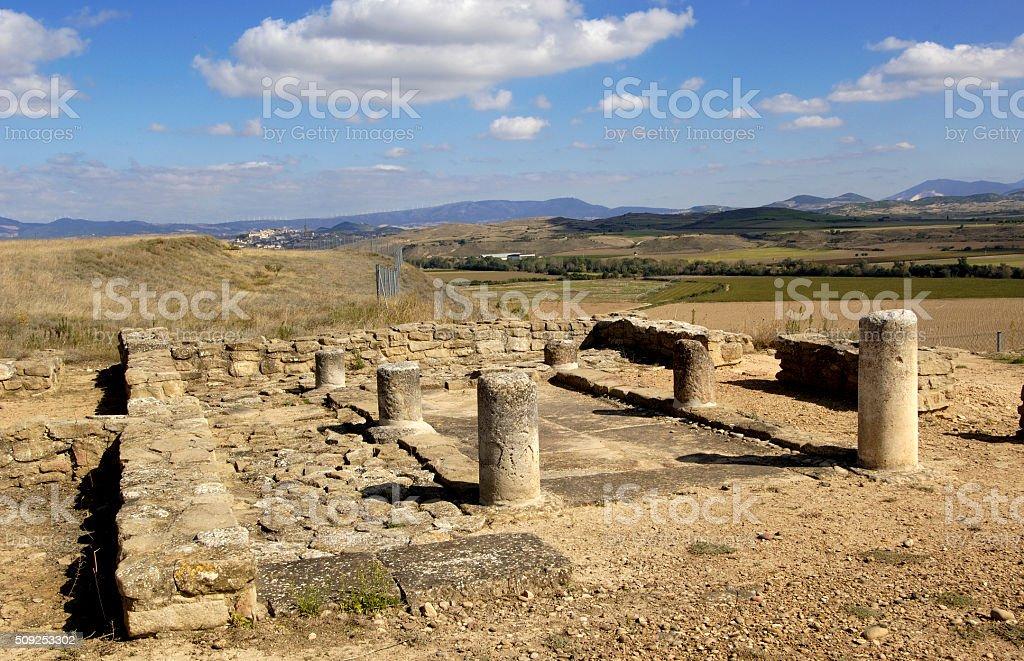 Impluvium, Andelos (Roman city) ,Mendigorria,Navarra,Spain stock photo
