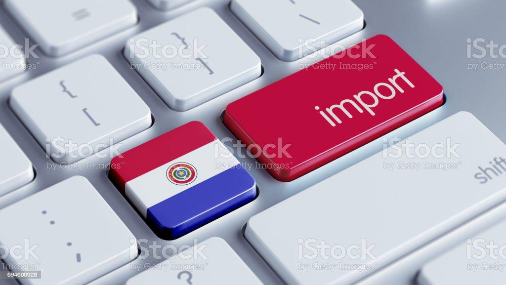 Concepto de importación - foto de stock