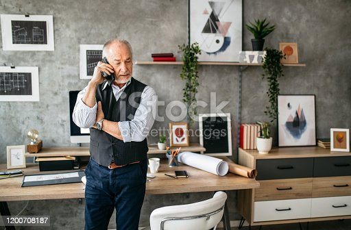 913346608 istock photo Important business phone call in the office 1200708187