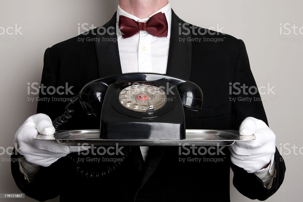 Important call royalty-free stock photo