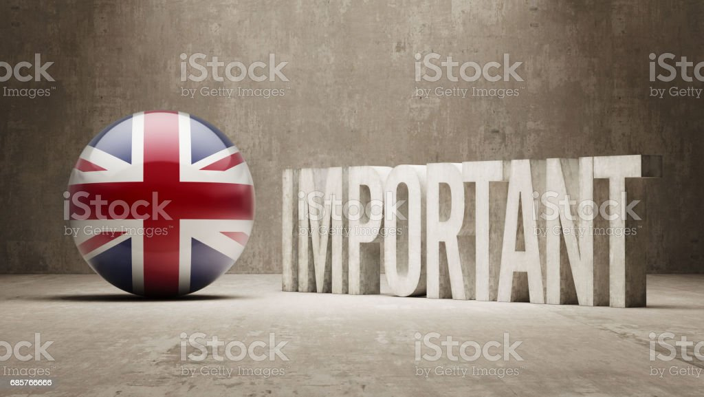 Important Concept royalty free stockfoto