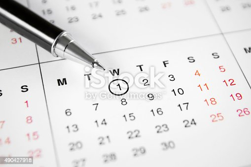 istock Important Date Marked on Calendar 490427918