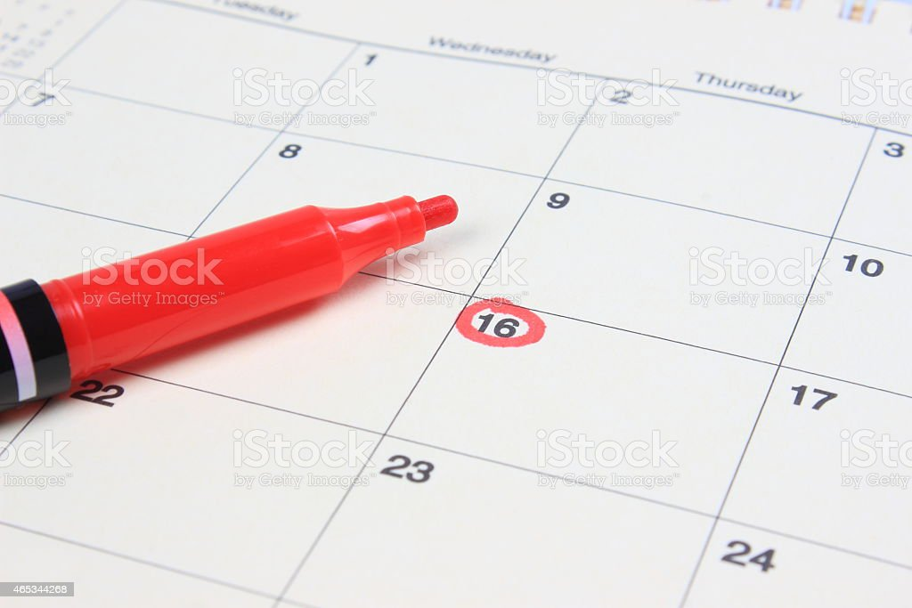 Important date stock photo