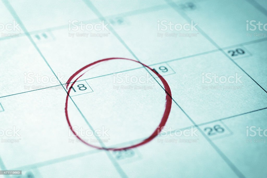 Important Date royalty-free stock photo