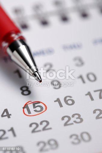 istock Important date 511516110