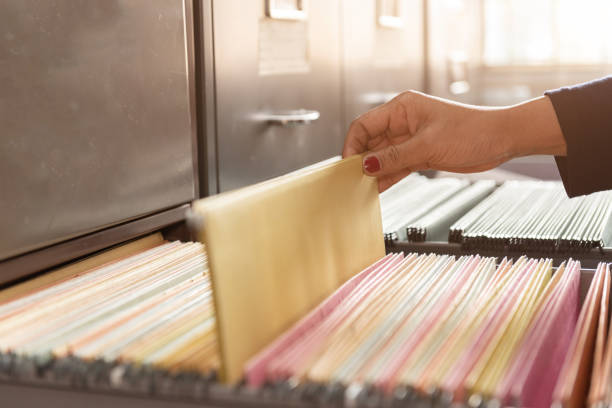 Important documents in files placed in the filing cabinet Important documents in files placed in the filing cabinet arrangement stock pictures, royalty-free photos & images