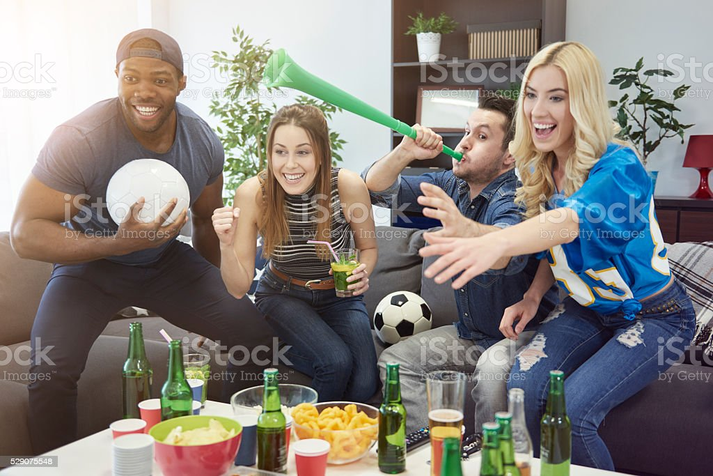 Important gadgets during the match stock photo