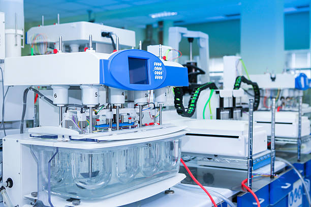 important machine for pharmaceutical industry - laboratory equipment stock photos and pictures