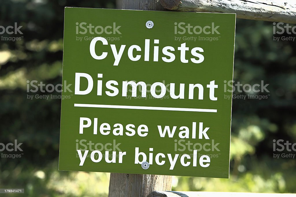 Important Safety Information When Cycling royalty-free stock photo
