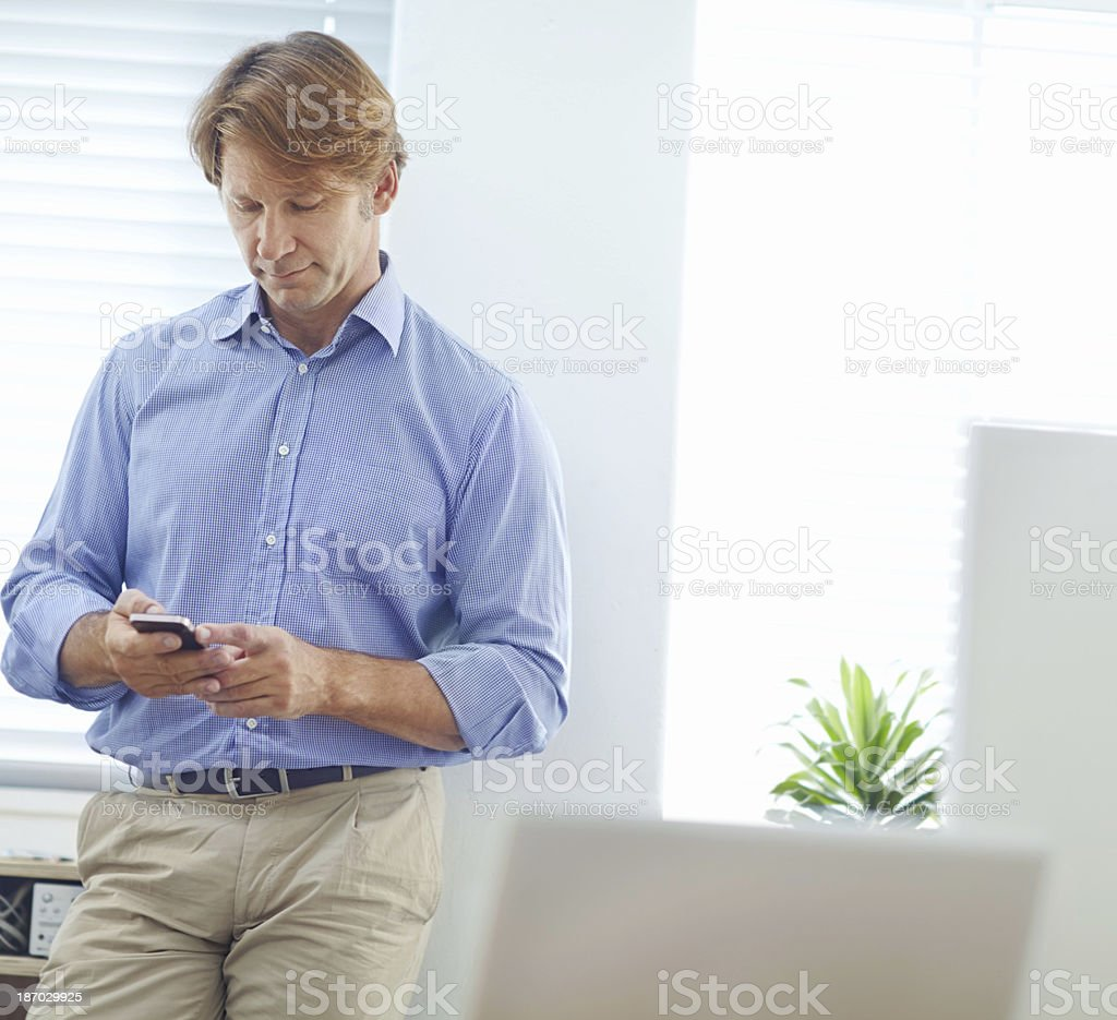 Important text messaging royalty-free stock photo