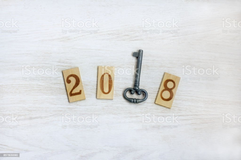 important year number 2018 stock photo