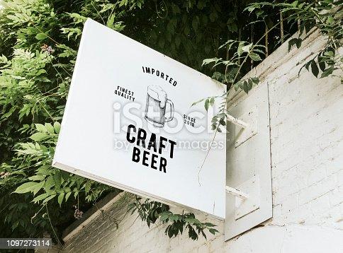 istock Imported craft beer board mockup 1097273114