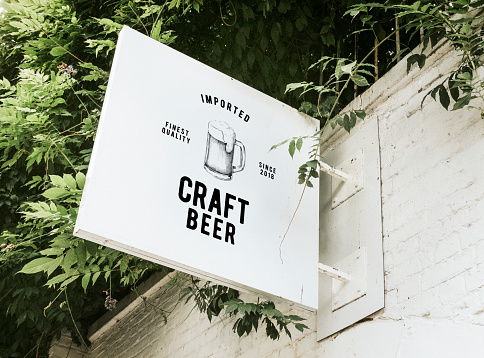 Imported craft beer board mockup