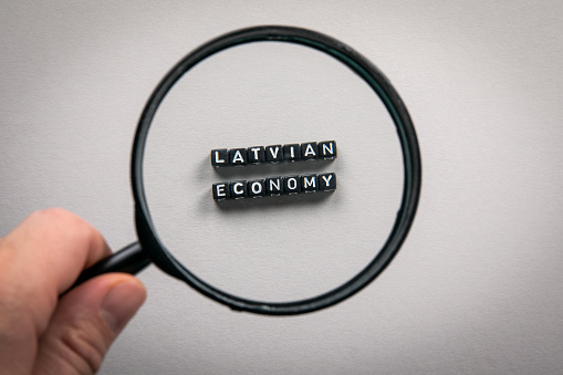 istock LATVIAN ECONOMY. Imports and Exports, Growth, Planning and Reporting, National Budget Concept 1224365455