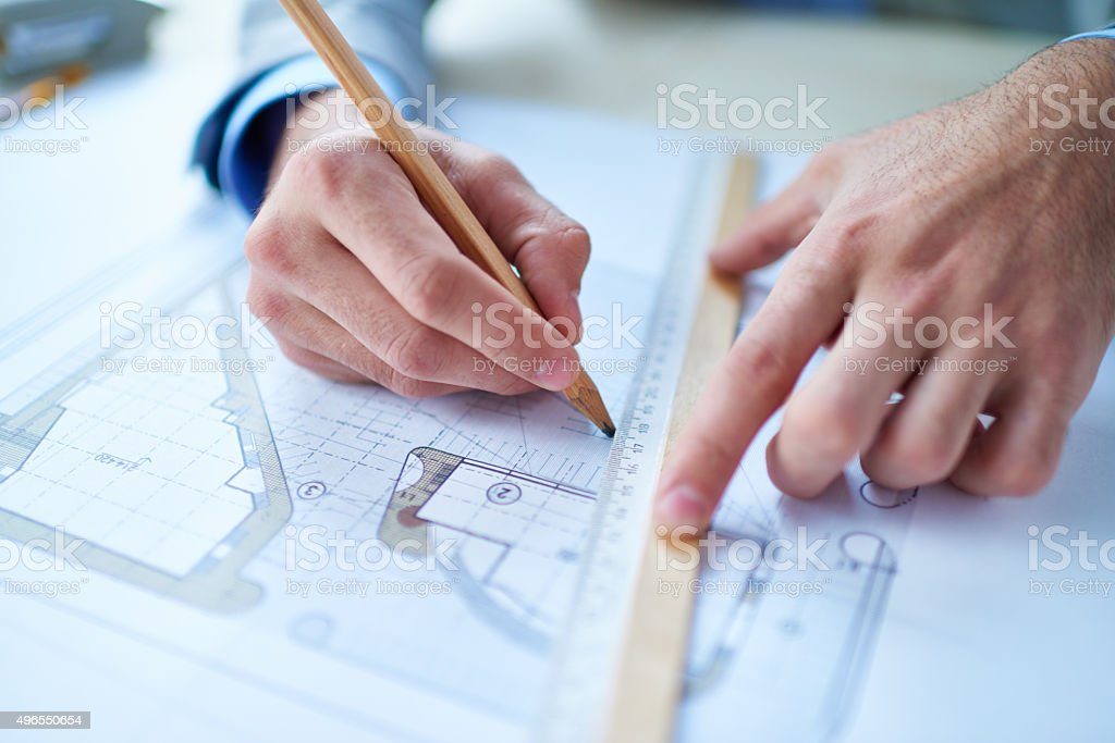 Imposing decision stock photo