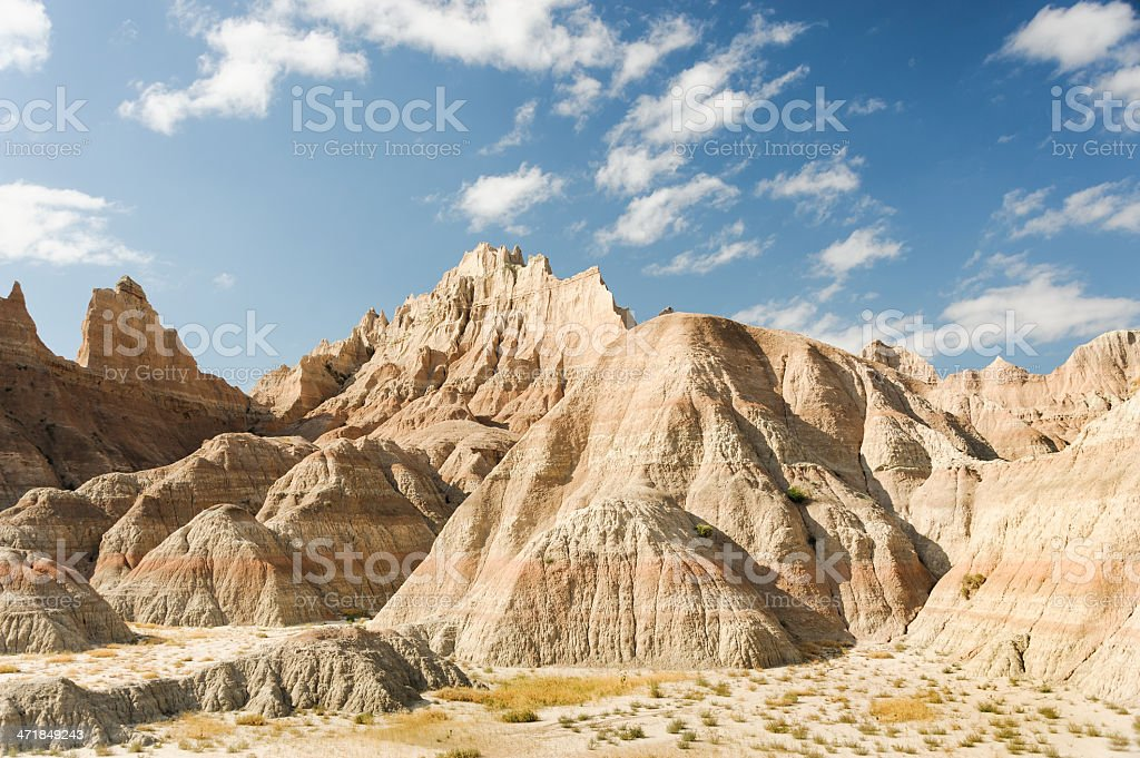 Imposing Landscape of the Badlands stock photo