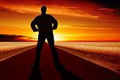 istock XXL imposing man silhouette 147937971