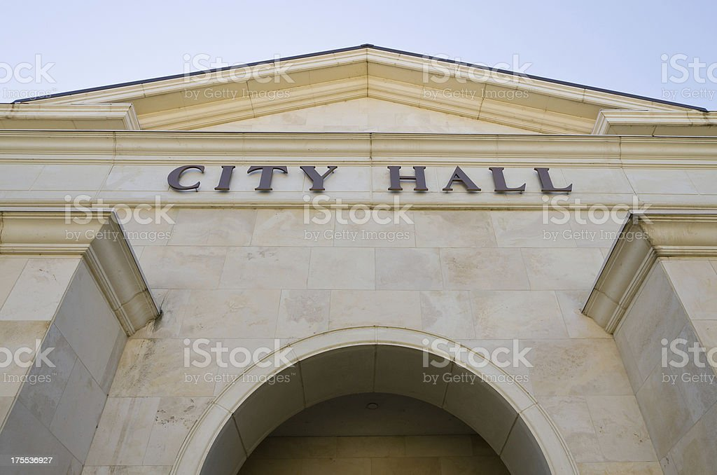 Imposing View of City Hall stock photo