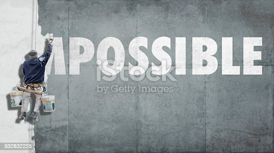 istock Impossible becoming possible 532832225