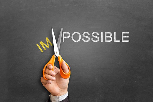 impossible de changement possible - envisageable photos et images de collection