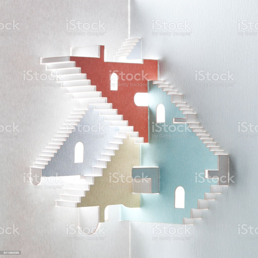 Impossible stairs stock photo