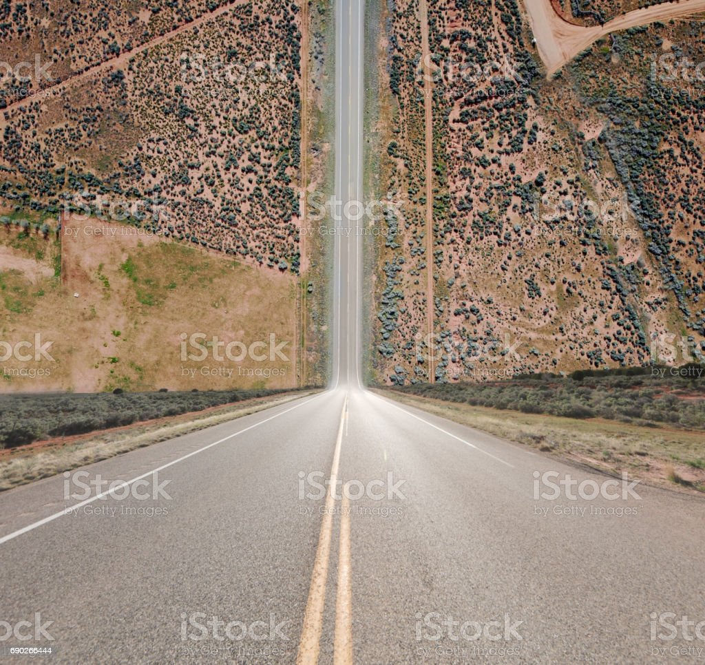Impossible steep hill stock photo