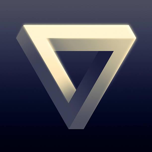 Unmögliche Dreieck Illusion – Foto