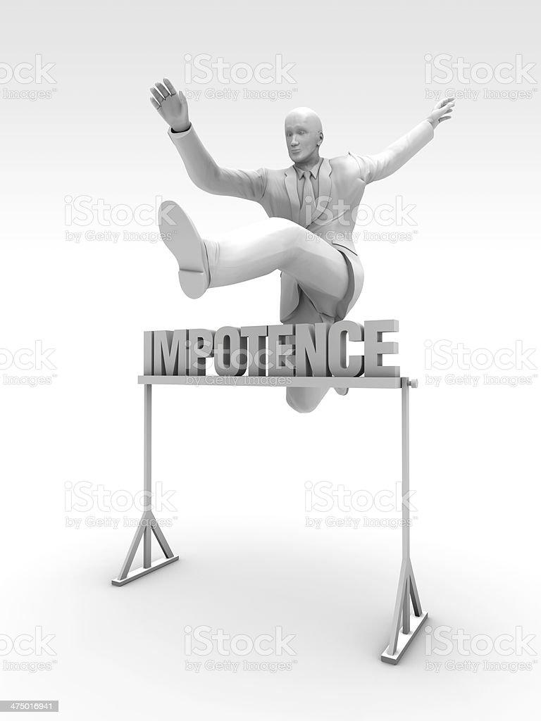 Impotence stock photo