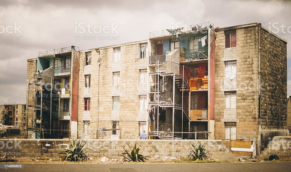 Impoverished Township in Cape Town South Africa royalty-free stock photo