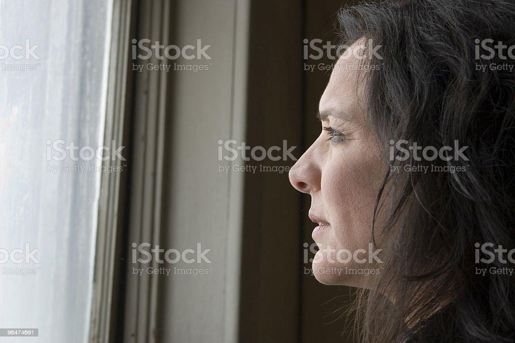 Impoverished Woman royalty-free stock photo