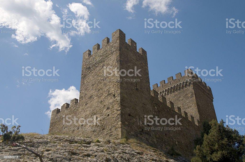 Impregnable fortress, Crimea stock photo