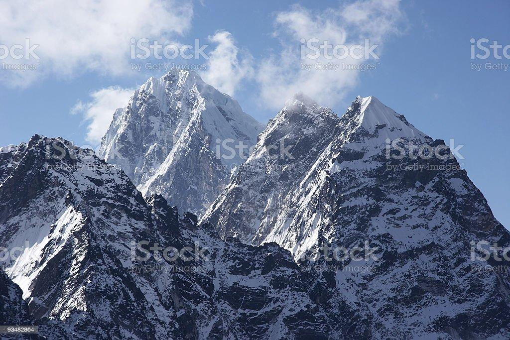 Impregnable 서밋, Himalaya, 네팔 - 로열티 프리 0명 스톡 사진