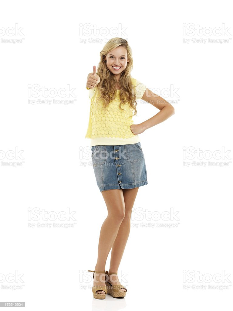 Impressed and excited! - Copyspace stock photo